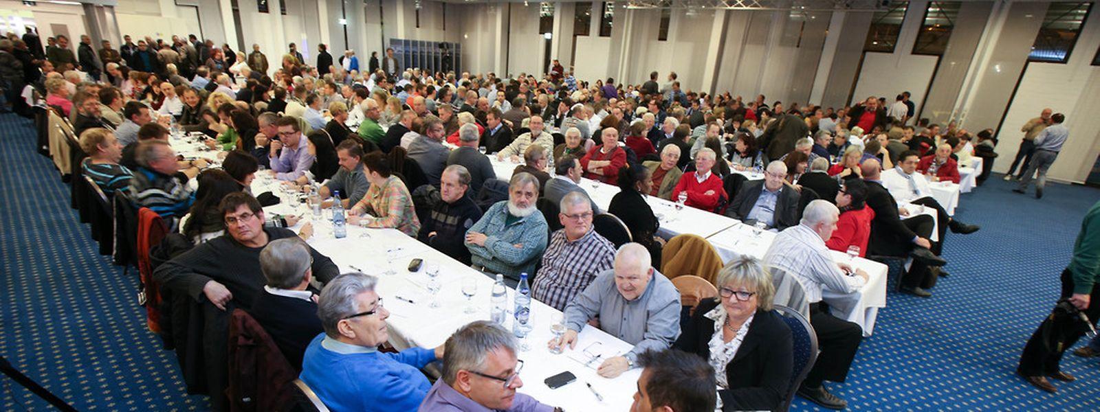 Rund 600 Gewerkschafter nahmen an der Veranstaltung teil.