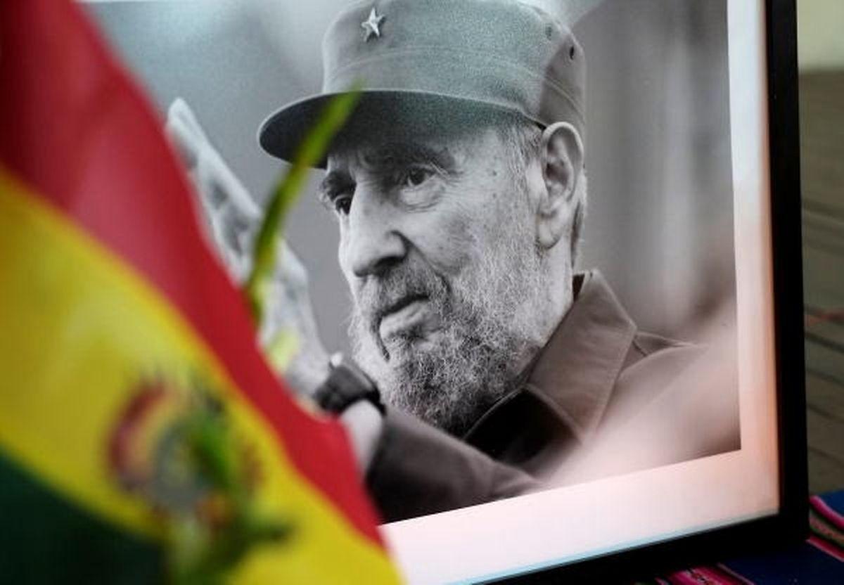 """A La Havane, un portrait du défunt Fidel Castro, le """"lider maximo""""."""