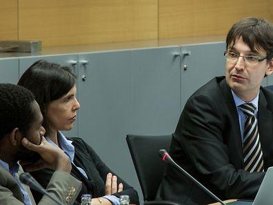 Marc Wagener (à droite) a animé la discussion entre Michel-Edouard Ruben (à gauche et Sarah Guillou (au centre).