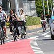 Fahrrad, Fahrradfahrer im Verkehr .Boulevard Royal. Photo: Guy Wolff