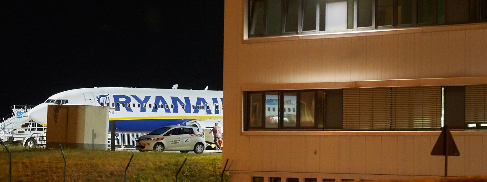 Auch in Hahn stehen die Maschinen der irischen Fluggesellschaft heute still.