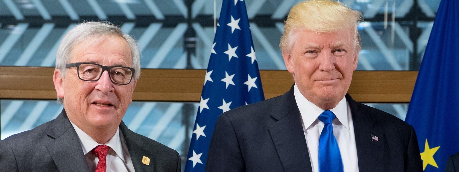 Jean-Claude Juncker mit Donald Trump bei einem Treffen im Mai 2017.