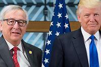 Juncker und Trump auf dem Europa-USA-Gipfel im Jahr 2017.