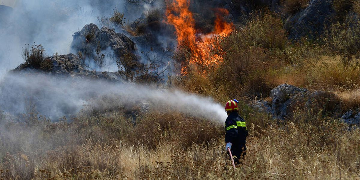 In Teilen Griechenlands herrscht erhöhte Waldbrandgefahr.