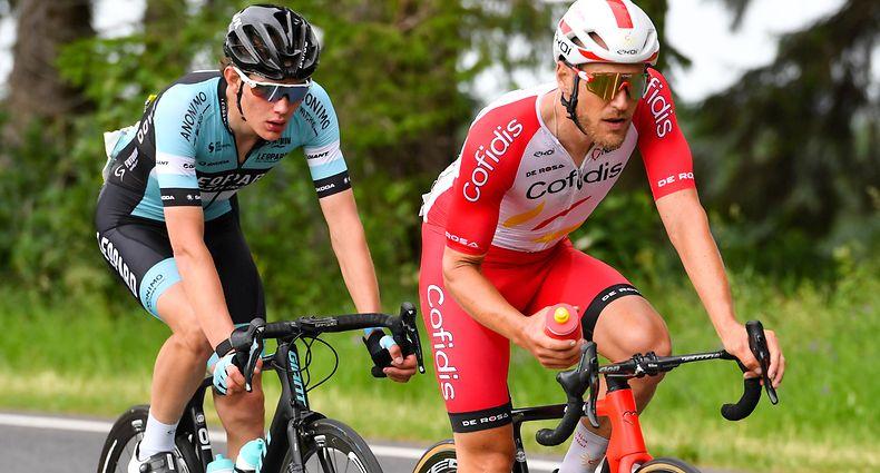 Jempy Drucker (Cofidis) und Arthur Kluckers (Leopard Pro Cycling) - Radsport-Landesmeisterschaften 2021 - Straßenrennen - Foto: Serge Waldbillig