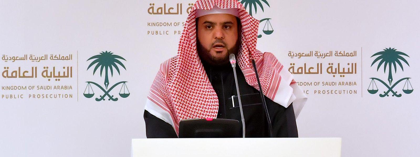 Shalan al-Shaalan, Sprecher der Staatsanwaltschaft von Saudi-Arabien, spricht auf einer Pressekonferenz. Ein Gericht in Saudi-Arabien hat fünf Menschen wegen des Mordes an dem regierungskritischen Journalisten Khashoggi zum Tode verurteilt.