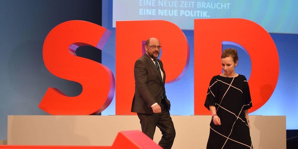 Martin Schulz vor dem Parteitag in Bonn.