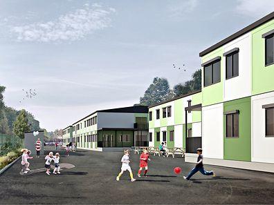 """Nach den ursprünglichen Plänen des MDDI, sollte ein """"Containerdorf"""" nahe der ehemaligen Gleisanlage am Park and Ride entstehen."""