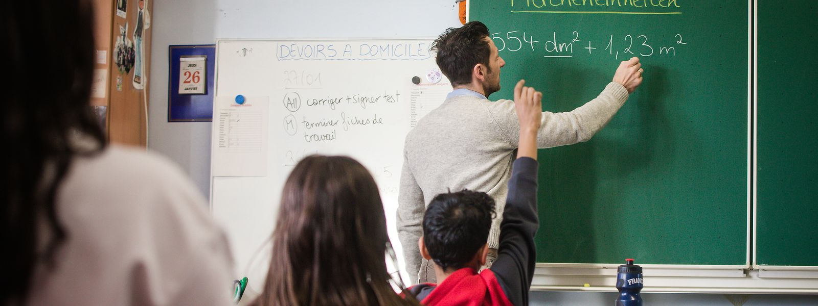 2019/20 werden etwas weniger als die Hälfte der neuen Lehrerposten im Fondamental mit Quereinsteigern besetzt.