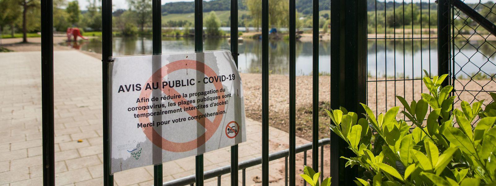 Der Zugang zum Baggerweiher in Remerschen bleibt bis auf weiteres zu.
