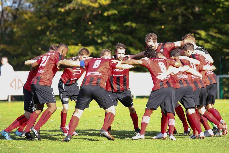 Ultimes moments de concentration pour les joueurs du FC Koerich.