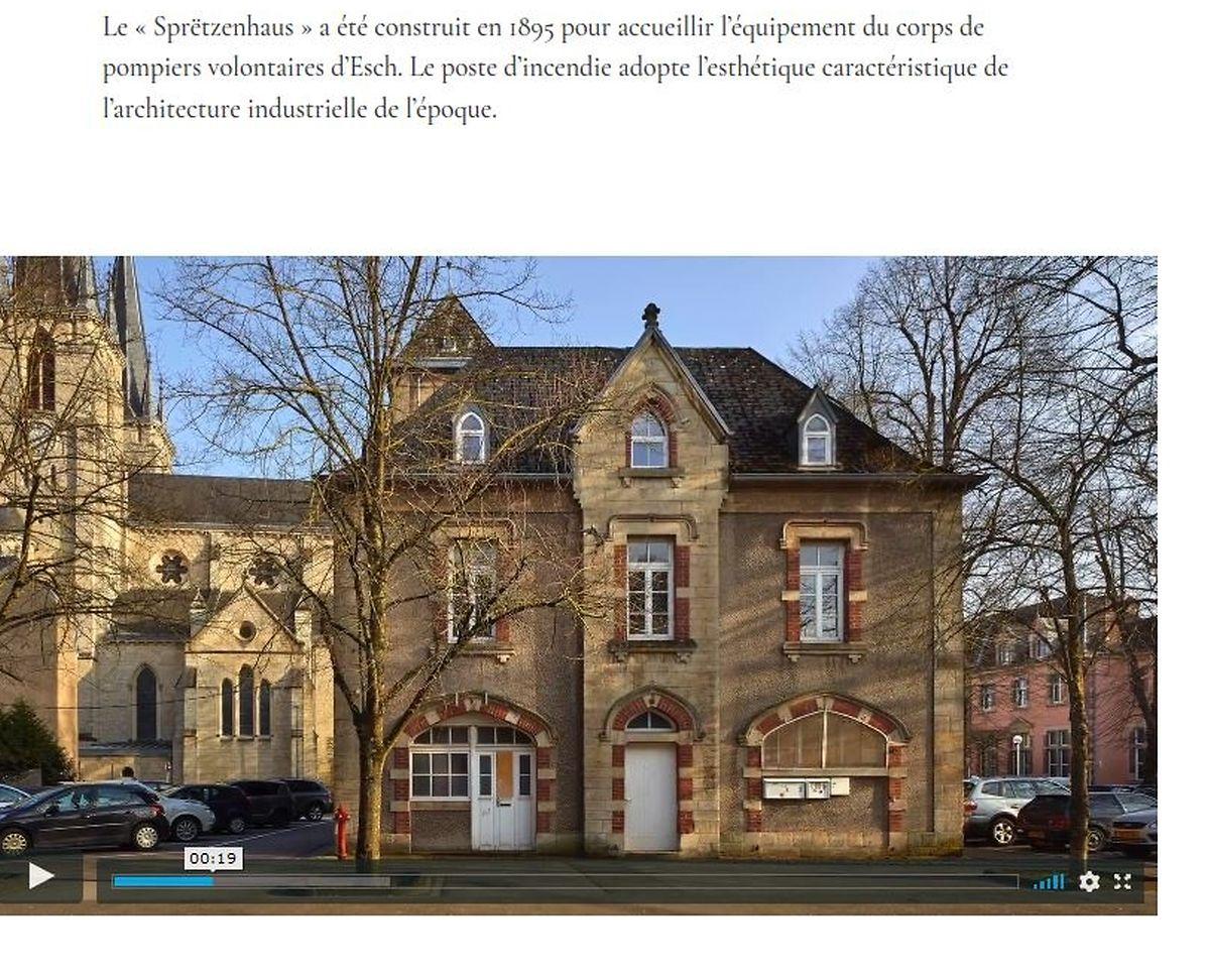 """Le """"Sprëtzenhaus"""" à Esch-sur-Alzette."""