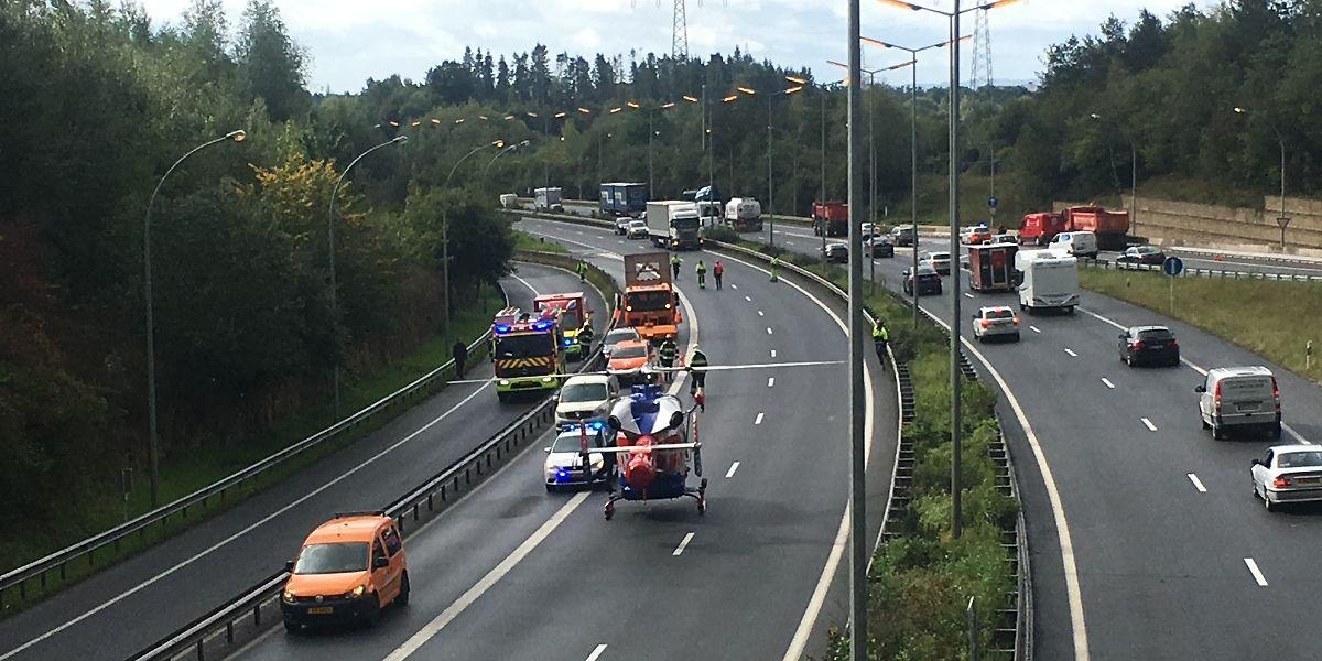 Die Autobahn wurde für kurze Zeit geperrt.