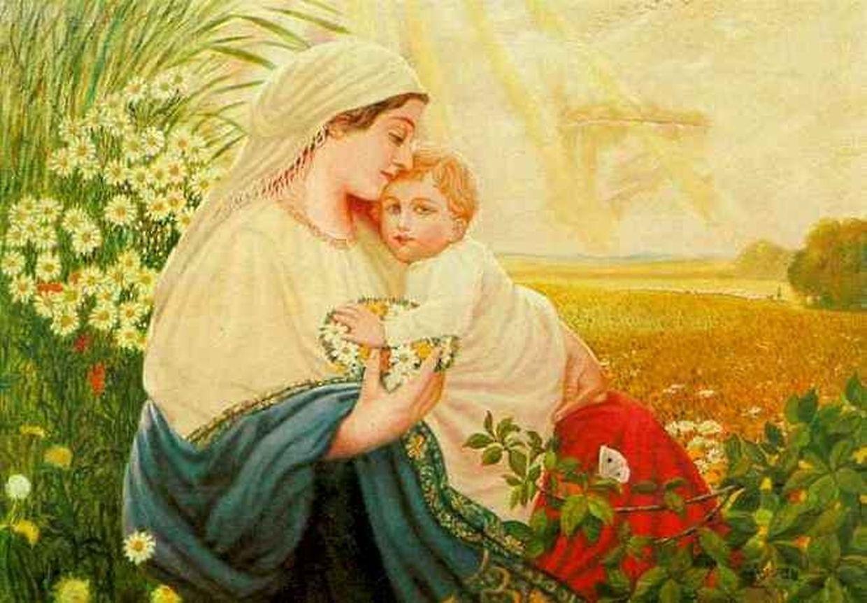"""1907 und 1908 hatte Hitler sich erfolglos an der Wiener Kunstakademie beworben. Dieses Werk mit dem Titel """"Maria mit dem Jesuskind"""" stammt von 1913."""