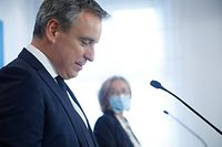 Politik, briefing Paulette Lenert , Claude Meisch Foto: Luxemburger Wort/Anouk Antony
