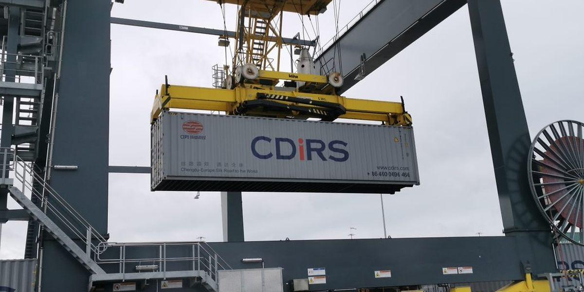 Sitôt arrivés à Bettembourg, les premiers containers chinois ont été déchargés.