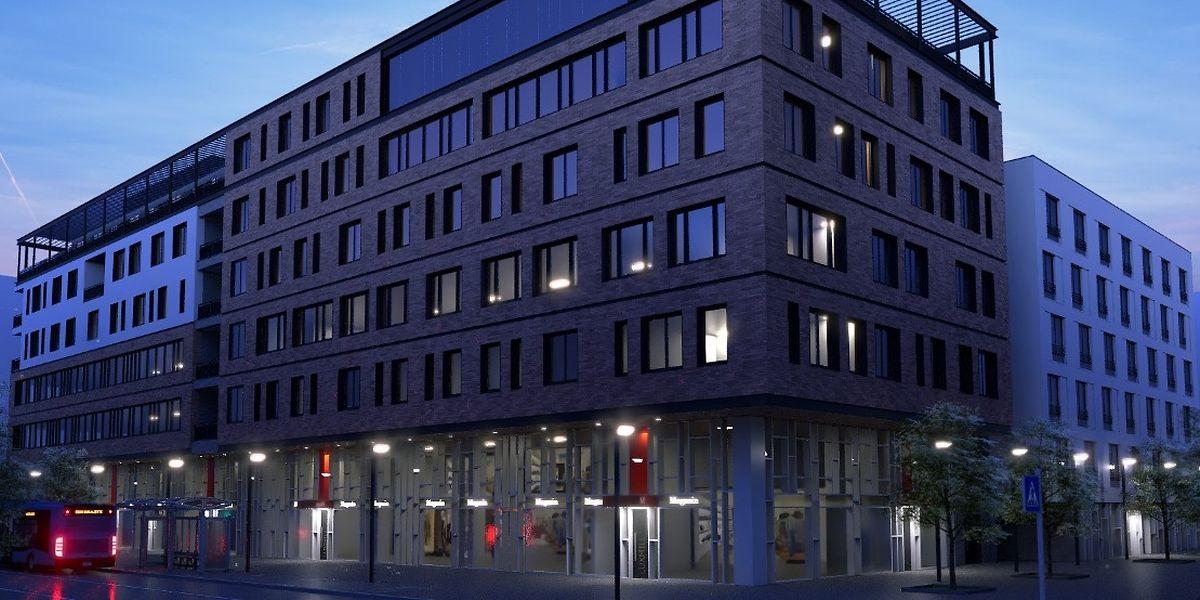 L'immeuble «Twenty 8» mixte de 14.700 m2 renfermera des bureaux, des commerces et des logements. Le LCGB ne sera propriétaire que de la moitié du bâtiment.