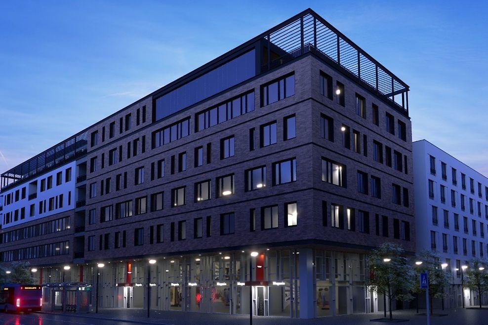 L'immeuble «Twenty 8», tel qu'il devrait apparaître à la mi-2021.