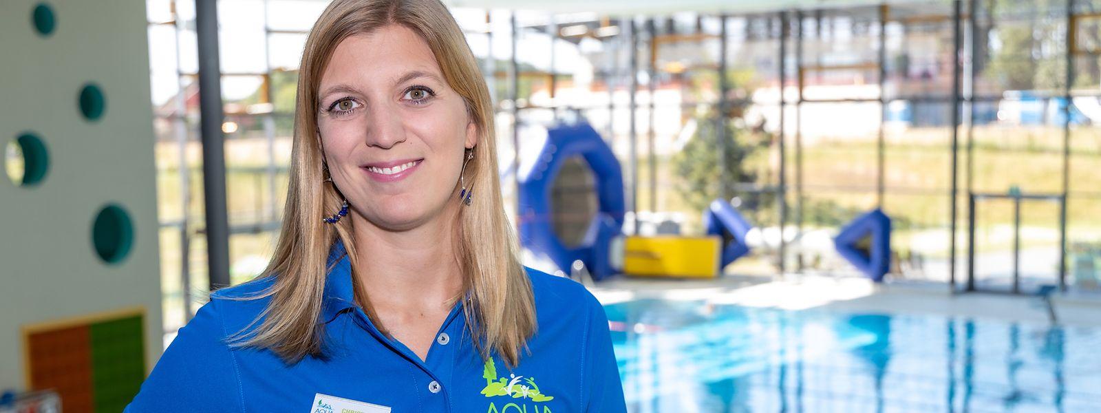 Christine Mailliet ist die Betriebsleiterin des Aqua Nat'Our in Hosingen.