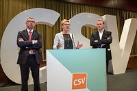 IPO , Niederanven , am Sand , Neujahrsempfang CSV , Pot Nouvel An ,Ansprache Martine Hansen  Foto: Guy Jallay/Luxemburger Wort