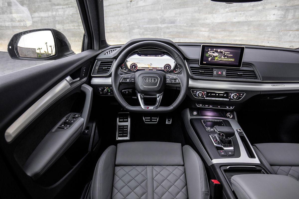 Das Q5-Cockpit gibt keinerlei Rätsel auf und überzeugt mit Audi-typischer Material- und Verarbeitungsqualität