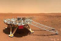 Imagens de Marte, captadas pela China.