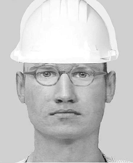 Zwei der Täter trugen Sicherheitswesten und Schutzhelme, der dritte Täter war dunkel gekleidet und trug eine schwarze Mütze.