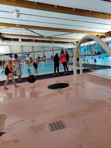 Sábado de manhã na piscina em Auckland.