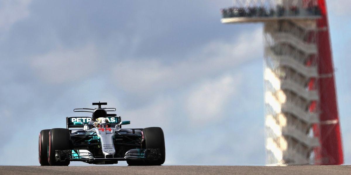 Mercedes-Star Lewis Hamilton startet von der Pole Position in den Großen Preis der USA