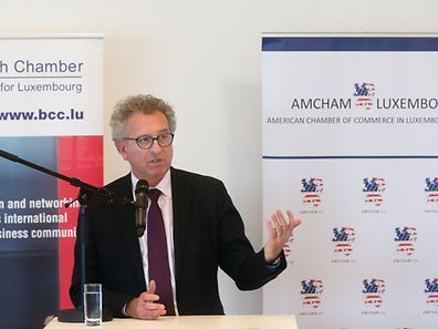 Luxembourg's Finance Minister Pierre Gramegna spoke at a lunch jointly organised by international business chambers in Luxembourg.
