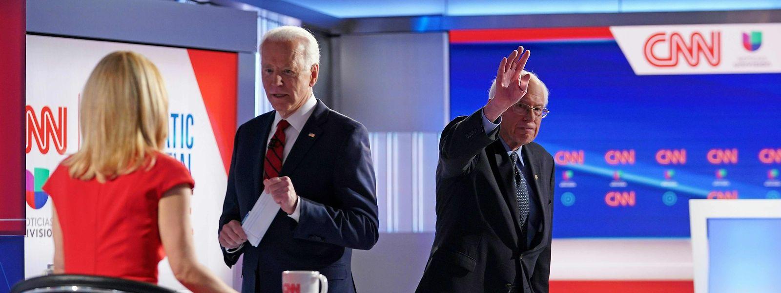 Joe Biden, ici avec la journaliste Dana Bash de CNN, a fait un come-back spectaculaire et a rassemblé derrière lui le camp modéré.