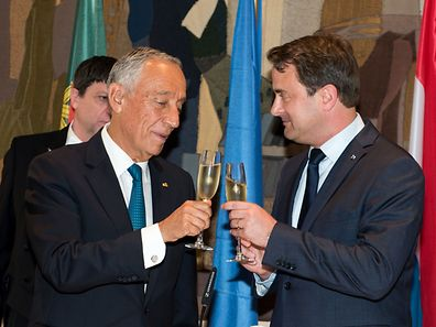 O primeiro-ministro Xavier Bettel ofereceu um almoço a Marcelo Rebelo de Sousa
