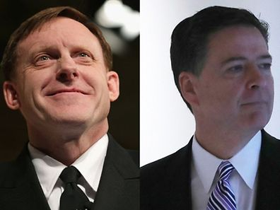Left: NSA Director Mike Rogers, Right: FBI Director James Comey