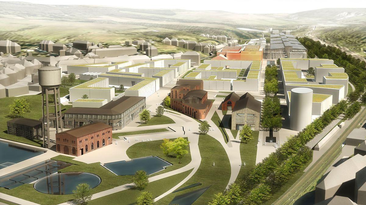 Le futur éco-quartier Neischmelz s'étendra sur 40 hectares.