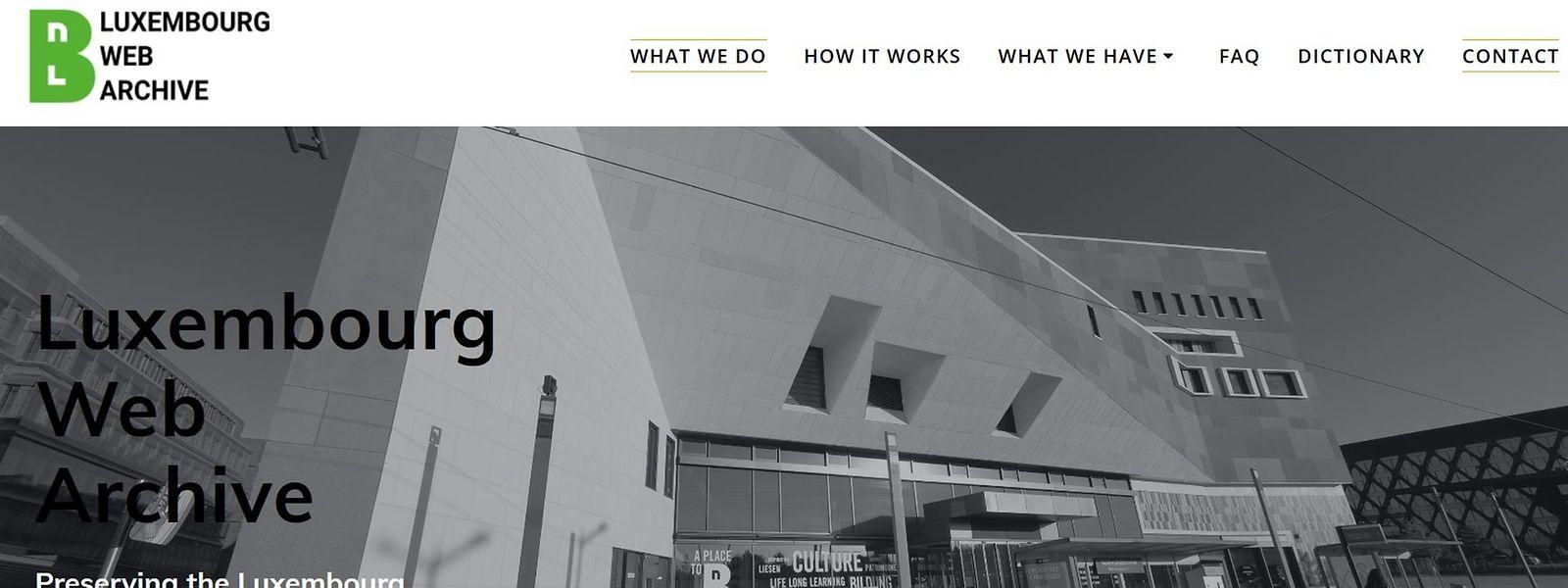 Le nouveau site webarchive de la BnL n'est actuellement disponible qu'en anglais