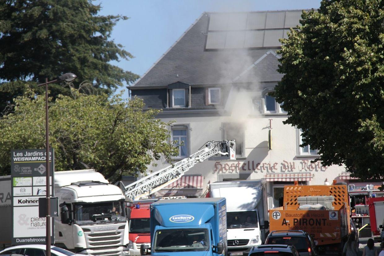 In einem Hotel in Weiswampach kam es am Freitag zu einem Brand.