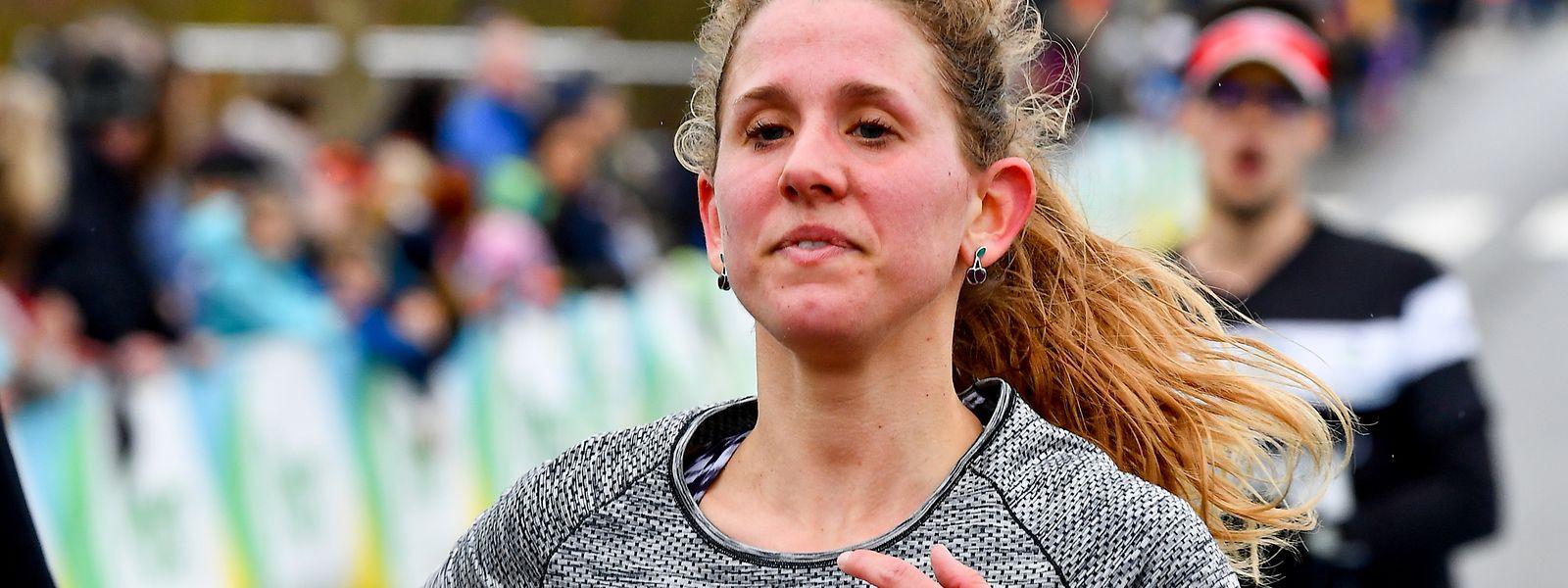 Isabelle Hoffmann wird zweitbeste Luxemburgerin beim Postlaf am Sonntag.