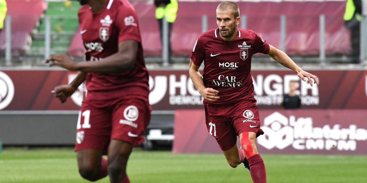 Thomas Delaine et le FC Metz continuent de planer sur la Ligue 2 après leur succès à Béziers.