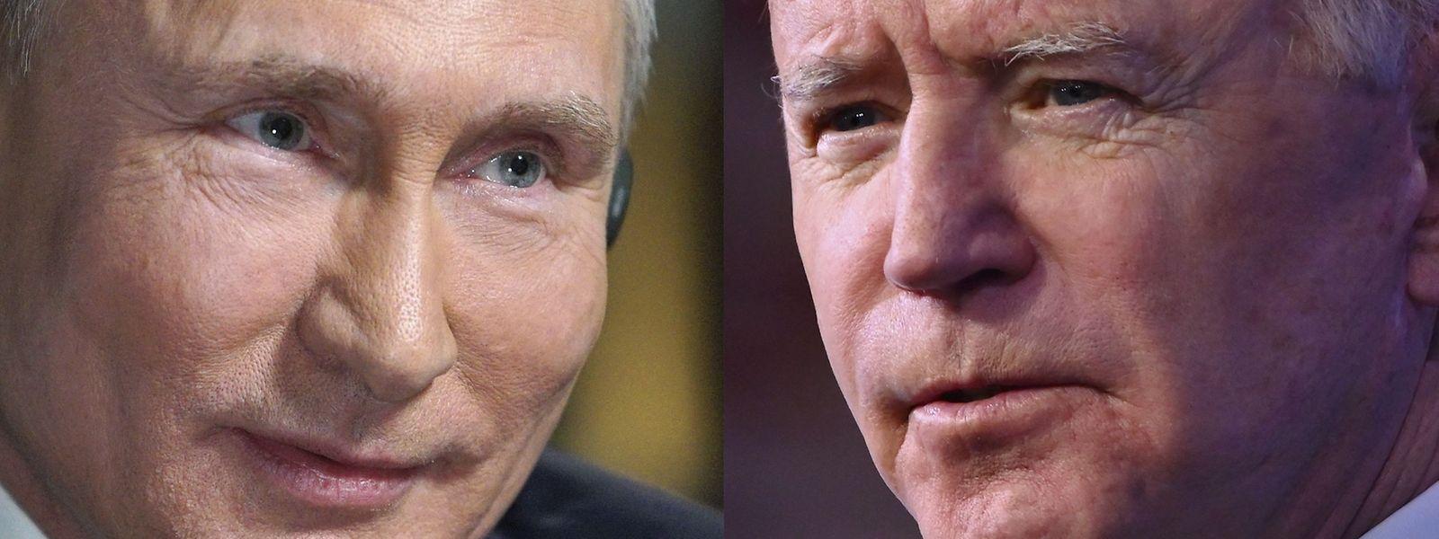 US-Präsident Joe Biden (r.) und Kremlchef Wladimir Putin treffen sich am Genfersee zu ihrem ersten Gipfel.