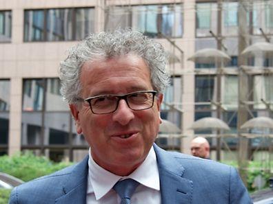 Pierre Gramegna à son arrivée au Justus Lipsius ce mardi.