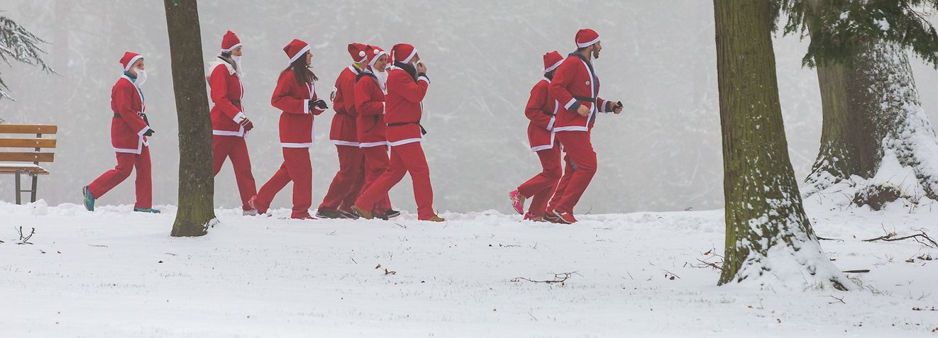 Lokales, Santa Run (Nikolaus-Lauf), Foto: Lex Kleren/Luxemburger Wort