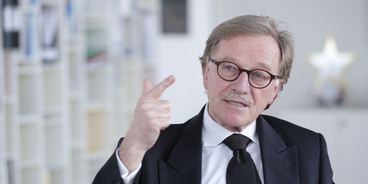 Yves Mersch dans son bureau au 39ème étage de la Banque centrale européenne à Francfort