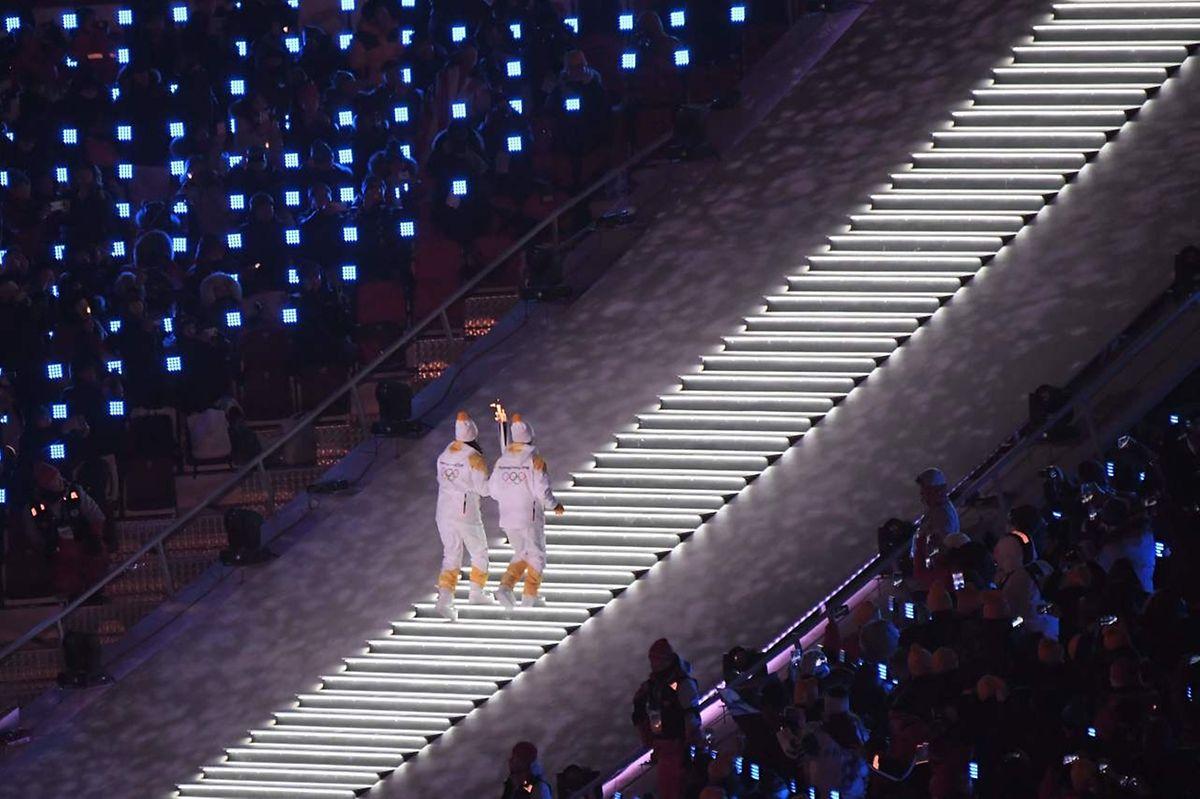 Jong Su Hyon et Park Jong-ah, le symbole d'une Corée réunie durant ces Jeux.