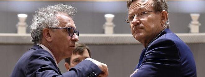 Avant de partir pour Davos, Pierre Gramegna (à gauche) a assisté à la réunion de l'Ecofin.