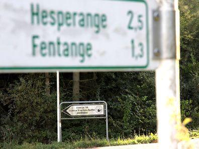 Die Kugel schlug genau 1,54 Kilometer Luftlinie vom Schießstand entfernt in Fentingen ein.