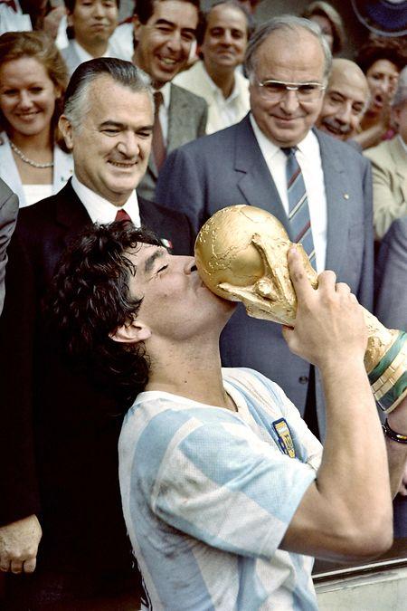 1986 wurde Diego Maradona mit Argentinien Weltmeister.