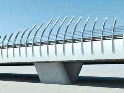 Die neue Brücke erinnert an den Bahnhof Belval-Universität