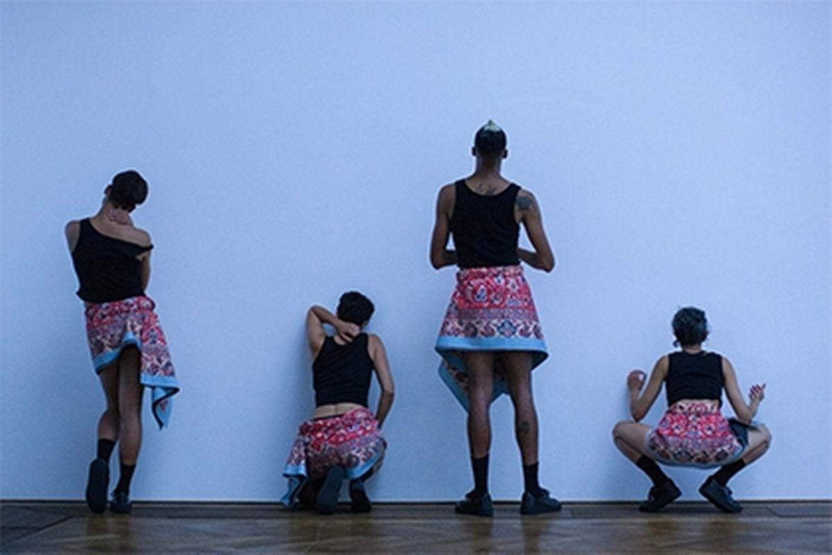 Work of dancer and choreographer Adam Linder Photo: Nicolas Gysin/Kunsthalle Basel