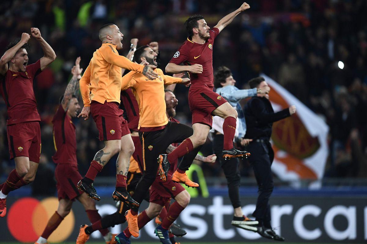 Die Stimmung unter den Spielern und Fans der AS Rom eskalierte im positiven Sinn.