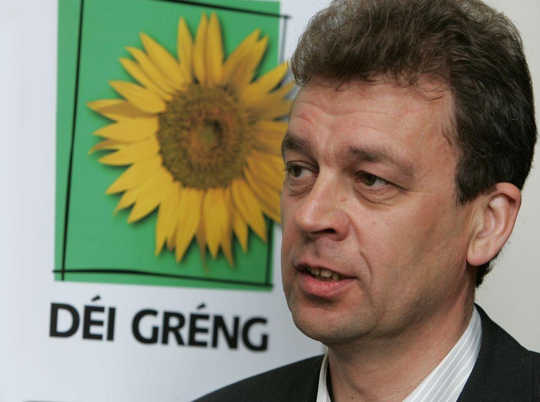 Camille Gira lors du congrès des Verts en 2005.